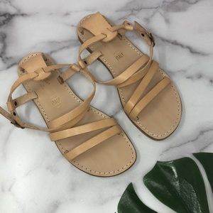 Seychelles Cream Nude Leather Strappy Sandals 7 A1